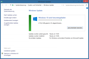 Windows 10 via Autoupdate